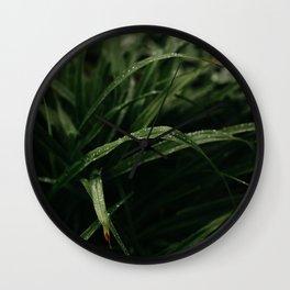 Rain on Grass Wall Clock