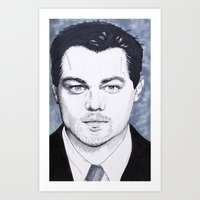 leonardo dicaprio Art Prints featuring Leonardo DiCaprio by beecharly