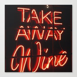 Takeaway Wine Canvas Print