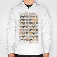 hearts Hoodies featuring Hearts by Texture
