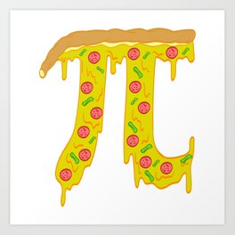 """Simple As Pie...or Pi? Looking For A Pi Shirt? Here's a Mathematics T-shirt """"Pizza Pie"""" Computation Art Print"""