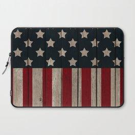 Patriotic Wood Texture #2 Laptop Sleeve