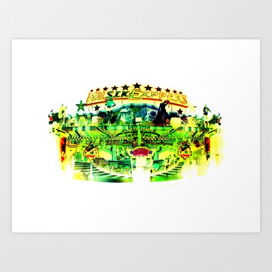white amusement I. Art Print