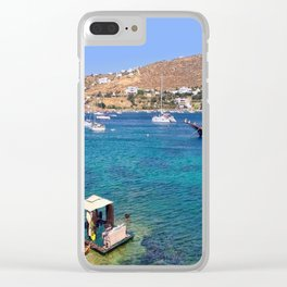 Mykonos, Greece Ocean Relaxing View Clear iPhone Case