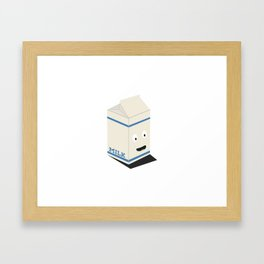Cute kawaii milk carton Framed Art Print