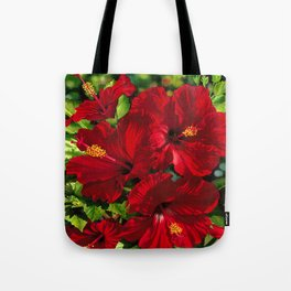 Red Hibiscus 18 Tote Bag