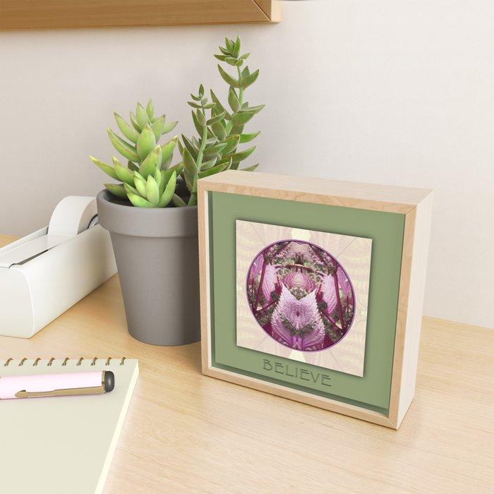 Believe Manifestation Mandala No. 2 Framed Mini Art Print