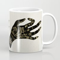 occult Mugs featuring Palmistry by Cat Coquillette