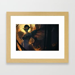 Like a moth to the flame Framed Art Print
