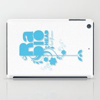"""radiohead iPad Cases featuring Radiohead """"Last flowers"""" Song / Blue version by LilaVert"""