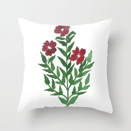 Indian Floral Motif Throw Pillow