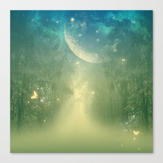 Mystical forest Canvas Print