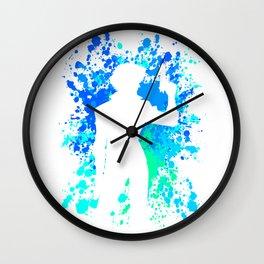 Anime Paint Splater Inspired Shirt Wall Clock