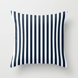 STRIPED DESIGN (NAVY BLUE-WHITE) Throw Pillow