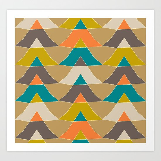 My colourful triangles Art Print