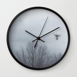 """""""Lori's First Robin"""" Wall Clock"""