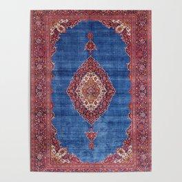 Silk Kashan Central Persian Rug Print Poster