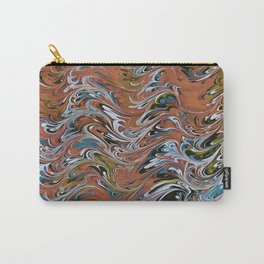 Marble Abstract In Red Carry-All Pouch