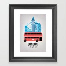 London, England Framed Art Print