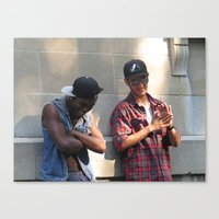 infamous Canvas Prints featuring Infamous Jay & King Reefer by Ryan Gillings