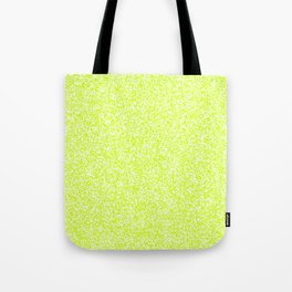 Spacey Melange - White and Fluorescent Yellow Tote Bag