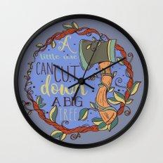 Little Axe Big Tree Wall Clock