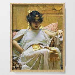 John William Waterhouse - Cleopatra - Digital Remastered Edition Serving Tray