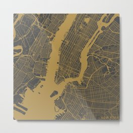 New York - Ocher Metal Print