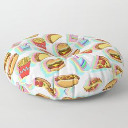 Rainbow Fast Food Floor Pillow