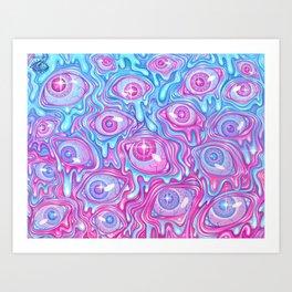 Eyeball Pattern - Version 2 Art Print