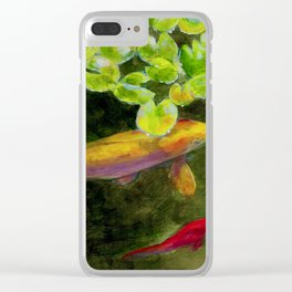 Small Koi Pond 14 Clear iPhone Case