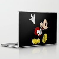 mickey Laptop & iPad Skins featuring DISNEY MICKEY MOUSE: DARK MICKEY by DrakenStuff+
