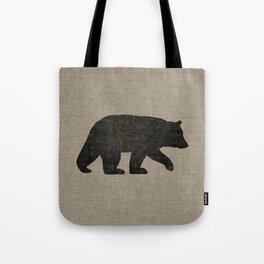Black Bear Silhouette Tote Bag