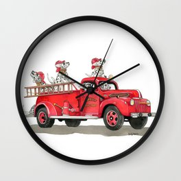 No Siren Required Wall Clock
