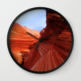 Spectacular Red Rock Canyons & Blue Sky: The Wave Wall Clock
