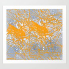 splash of yellow Art Print