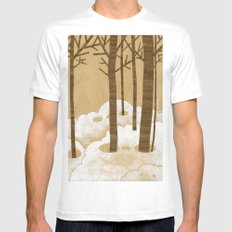 Forest is Alive! White Mens Fitted Tee MEDIUM