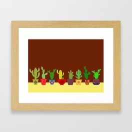 Cactus in brown Framed Art Print