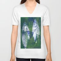 wave V-neck T-shirts featuring Wave by Sandra Hedicke Clark