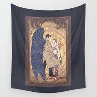 dean winchester Wall Tapestries featuring Angelic Intervention (Dean Winchester is Saved) by KARADIN