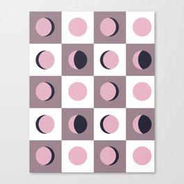 Blush Moon Cycle Canvas Print