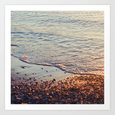 Sparkling sea Art Print