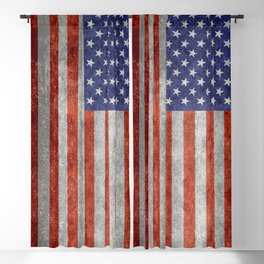 Flag of the United States of America - Vintage Retro Distressed Textured version Blackout Curtain