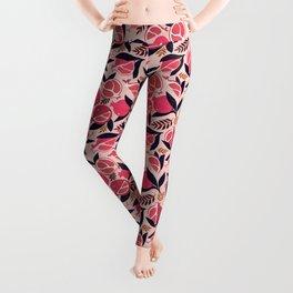 Pomegranate - Pink Leggings