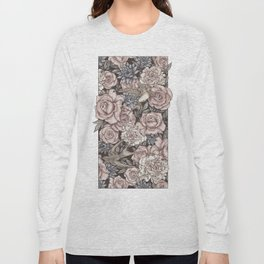 Flowers & Swallows Long Sleeve T-shirt