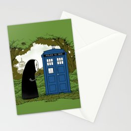 Curious Faceless Spirit Stationery Cards