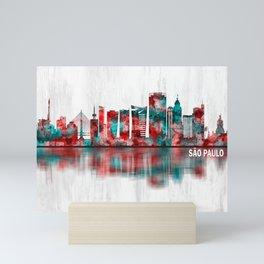 Sao Paulo Brazil Skyline Mini Art Print