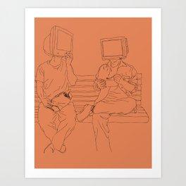 Computer ppl Art Print