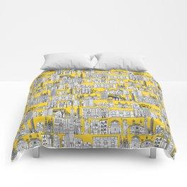 New York yellow Comforters