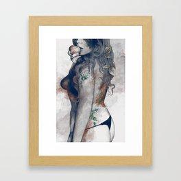 Koi No Yokan: Blue Rust Framed Art Print